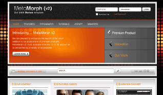 Шаблон RT MetaMorph 2 для CMS Joomla от RocketTheme