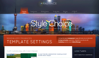 Шаблон RT Radiance для CMS Joomla от RocketTheme