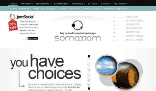 Шаблон RT Somaxiom для CMS Joomla от RocketTheme