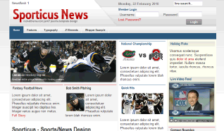 Шаблон RT Sporticus News для CMS Joomla от RocketTheme