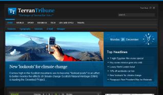 Шаблон RT TerranTribune Dark для CMS Joomla от RocketTheme