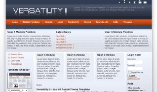 Шаблон RT Versatility 2 для CMS Joomla от RocketTheme