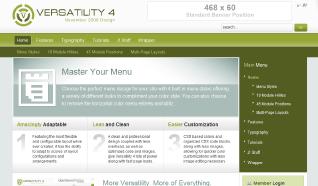 Шаблон RT Versatility 4 для CMS Joomla от RocketTheme