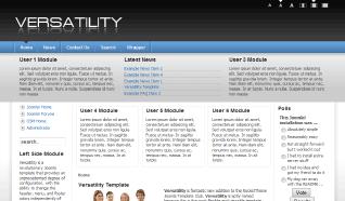 Шаблон RT Versatility для CMS Joomla от RocketTheme