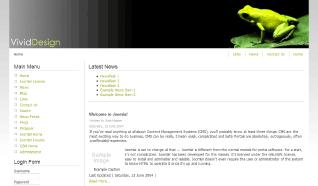 Шаблон RT VividDesign для CMS Joomla от RocketTheme