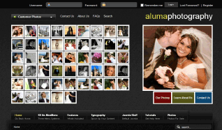 Шаблон S5 Aluma Photography для CMS Joomla от Shape5