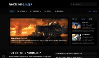 Шаблон S5 Hexicon Gamer для CMS Joomla от Shape5
