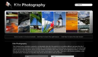 Шаблон S5 Kite Photography для CMS Joomla от Shape5