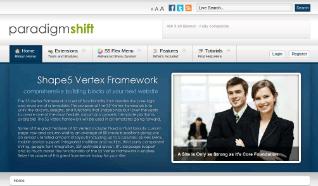 Шаблон S5 Paradigm Shift для CMS Joomla от Shape5