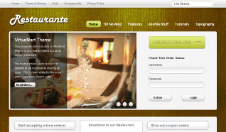 Шаблон S5 Restaurante для CMS Joomla от Shape5