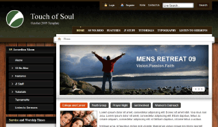 Шаблон S5 Touch of Soul для CMS Joomla от Shape5