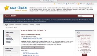 Шаблон S5 User Choice для CMS Joomla от Shape5