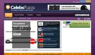 Шаблон TP Celebs Plazza для CMS Joomla от TemplatePlazza