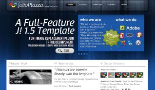 Шаблон TP Folio Plazza для CMS Joomla от TemplatePlazza