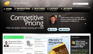 Шаблон TP Projecto Plazza для CMS Joomla от TemplatePlazza