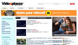 Шаблон TP Video plazza для CMS Joomla от TemplatePlazza