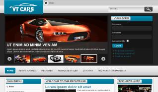 Шаблон VT Cars для CMS Joomla от Vtem
