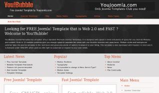 Шаблон YJ YouBubble для CMS Joomla от YouJoomla