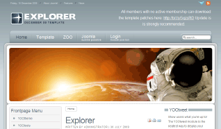 Шаблон YT Explorer для CMS Joomla от YOOTheme