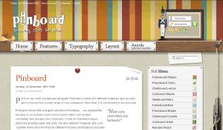 Шаблон YT Pinboard для CMS Joomla от YOOTheme