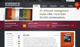 Шаблон YT Shuffle для CMS Joomla от YOOTheme