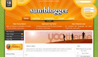 Шаблон YT Sunblogger для CMS Joomla от YOOTheme