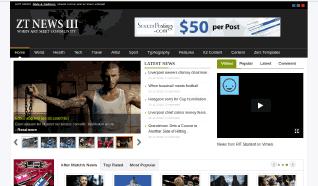Шаблон ZT News III для CMS Joomla от ZooTemplate